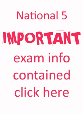 nat 5 exam info button