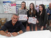Cupcake winners meeting Paul Hollywood