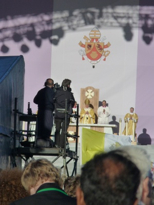 The Pope during the Mass