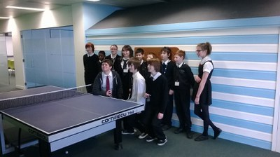 Finalists by the YoYo games table tennis table